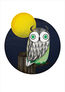 Owl Collection: Owl under Full Moon