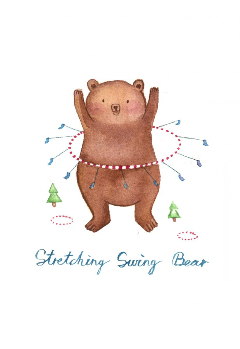 Stretching-Swing-Bear