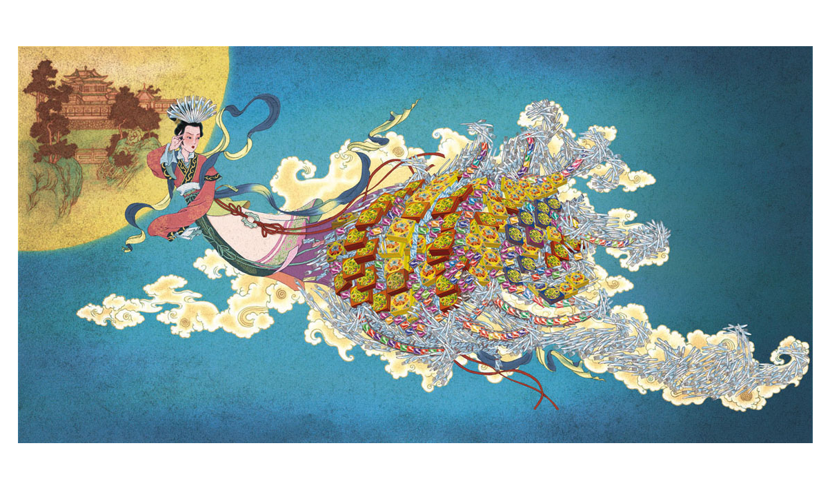 chang-e of chinese painting