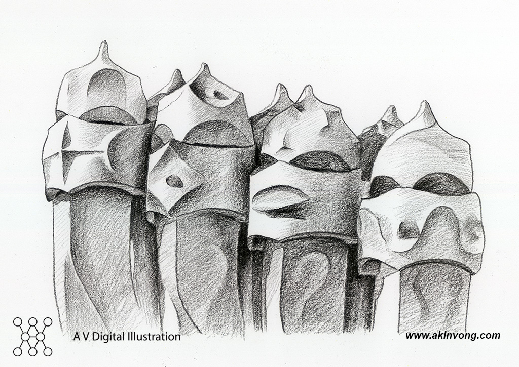 Pencil Sketch (Gaudi Architerture)