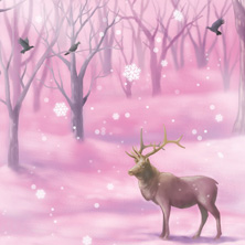 "Novel Illustration ""Pink Snow"""