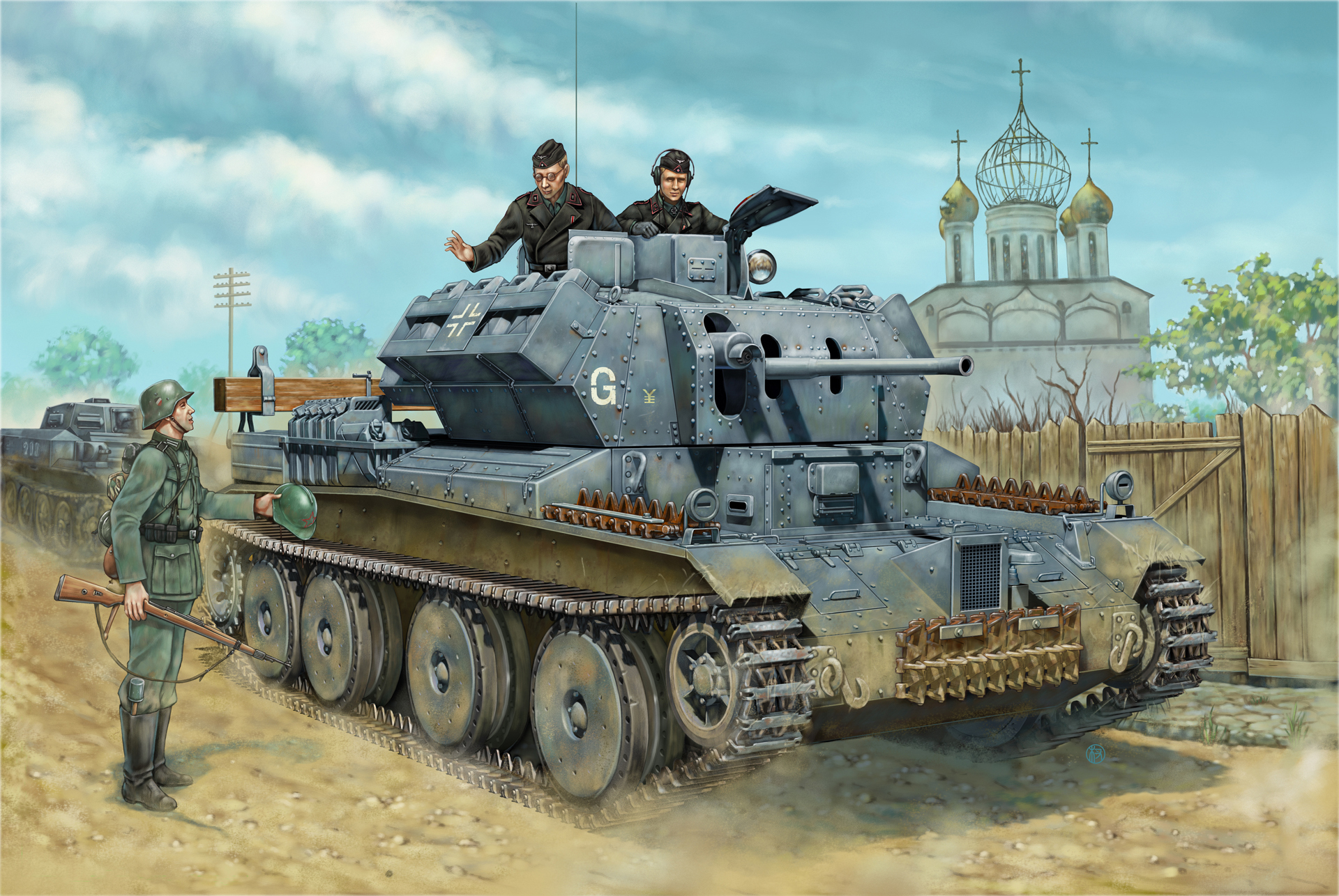 WWII German captured British Tank  A-13 in operation barbarossa.