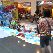 3D Trick art-Mr. Weather全球狂熱, 愉景新城shopping mall
